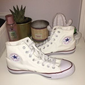 Converse High-Top White Sneakers - Size 9 - NWOT